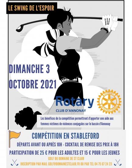 Compétition de golf au profit des victimes de violences conjugales sur le bassin d'Annonay